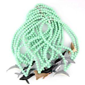 colliers animaux marins perles en bois