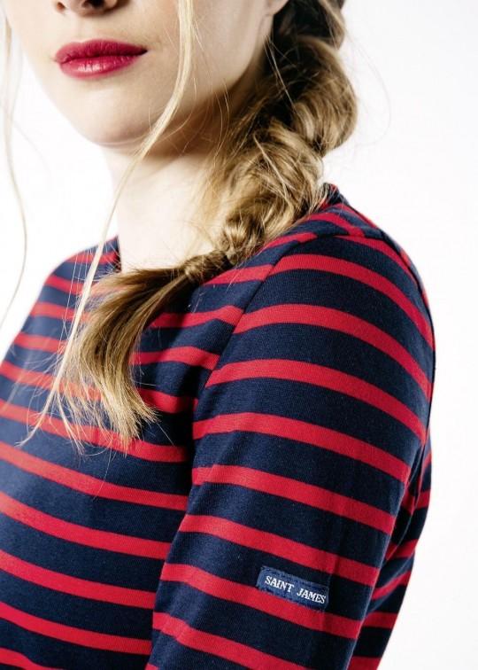 camiseta de algodón manga larga rayas