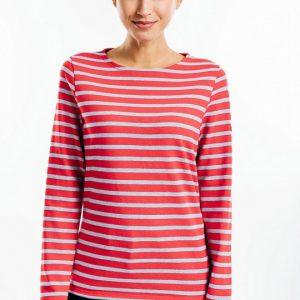 t-shirt rouge rayé Saint James