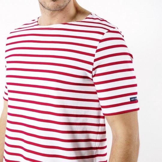 chemise de marin à rayures rouges