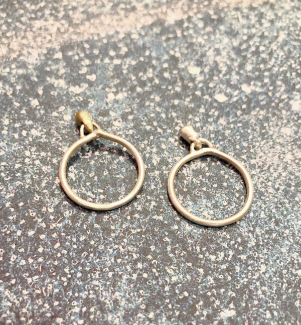 anillos gota de agua plata bronce