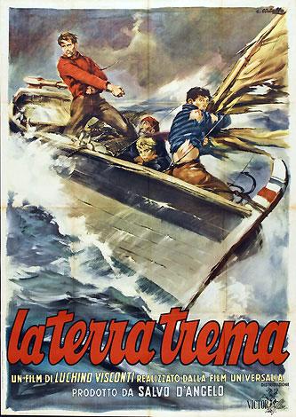 Cartel de 'La terra trema' de Lucchino Visconti