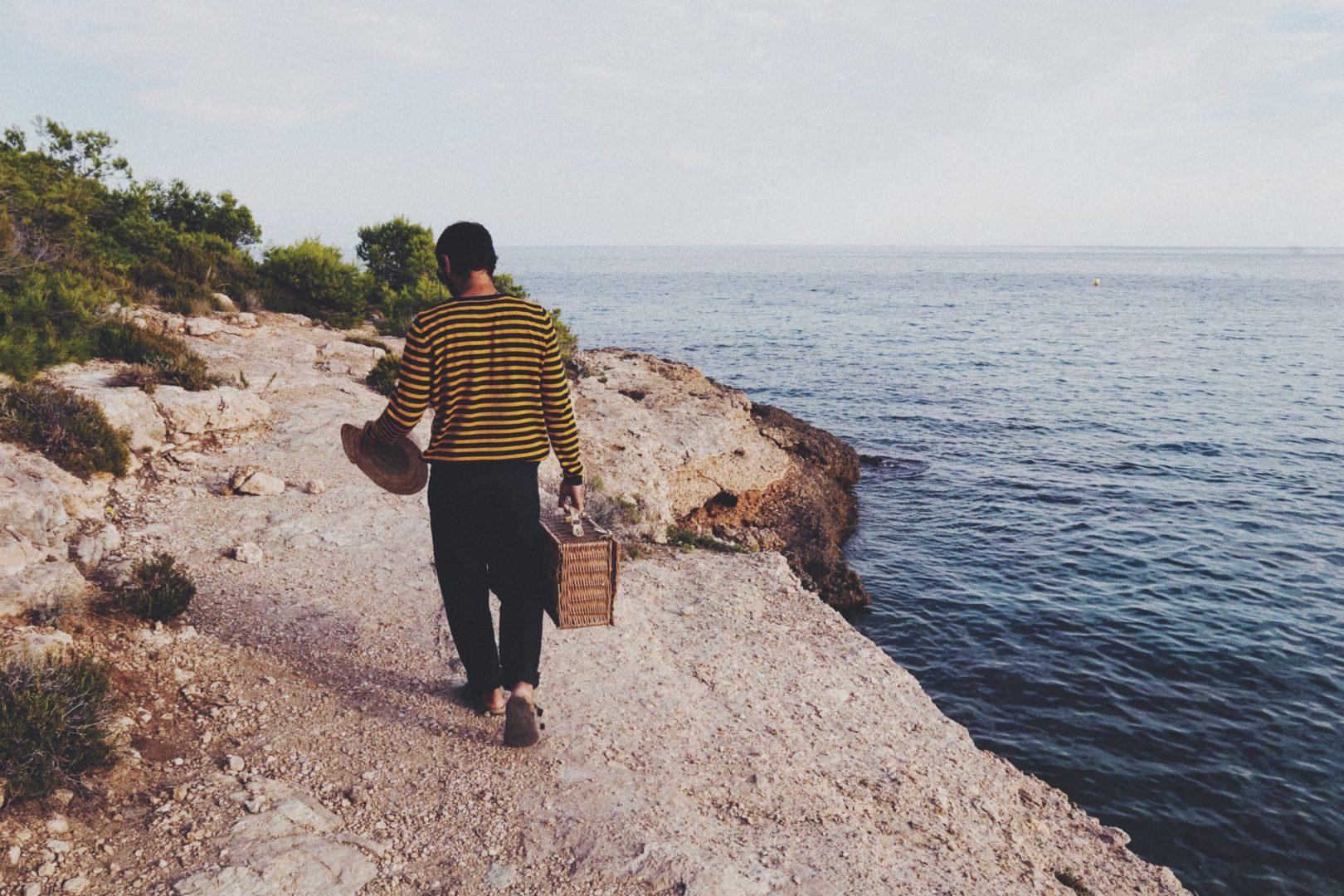playa otoño chaqueta