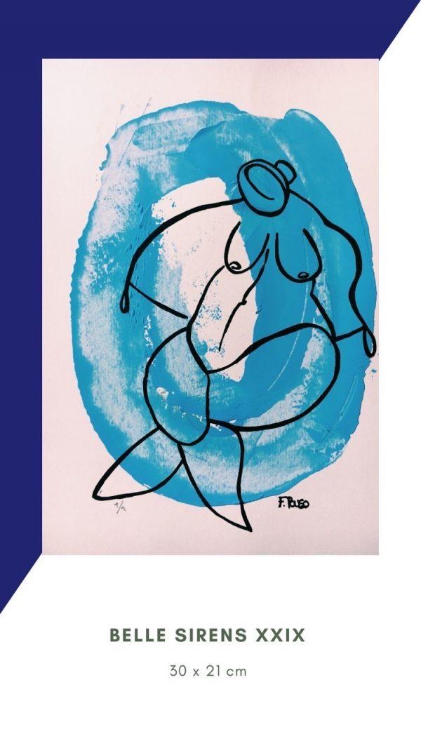 Blue art Siren
