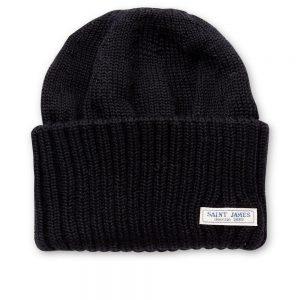 Casquette de laine noire