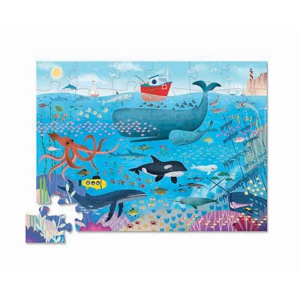 puzzle under the sea water
