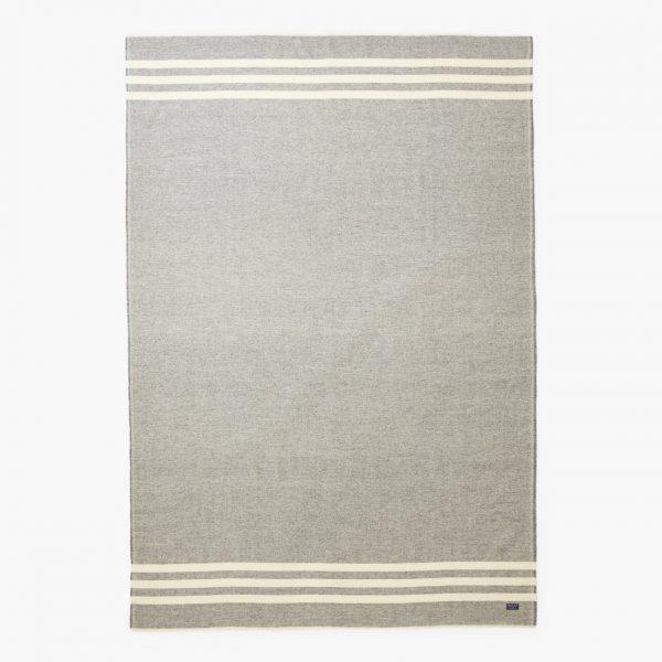 manta gris lana rayas