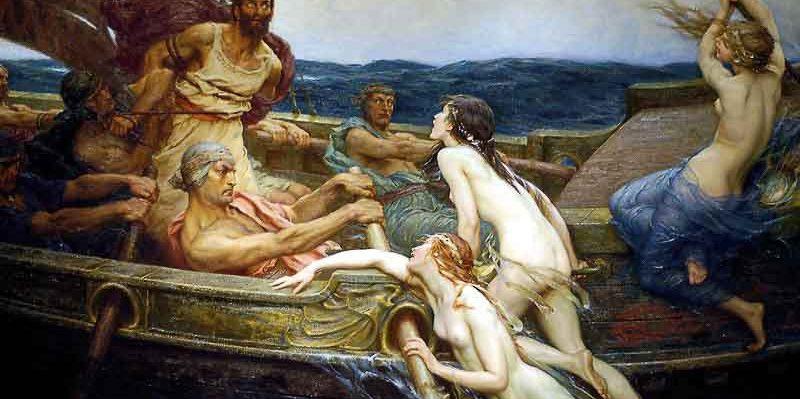Ulises y las Sirenas de James Draper. El arte y el mar en Just The Sea.