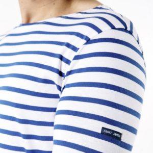 t-shirt saint james blau streifen
