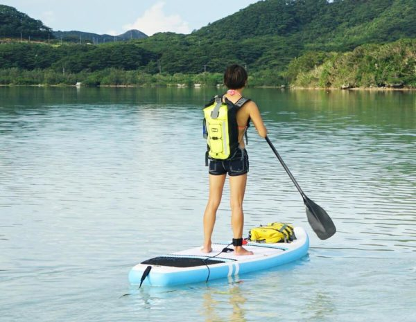 High visibility waterproof backpack floats