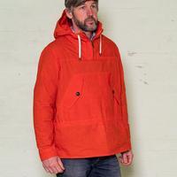 hoodied smock orange